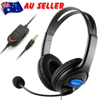Wired Stereo Bass Surround Gaming Headset 3.5mm for PS4 Xbox One PC with Mic New