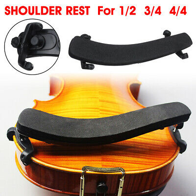 Violin Sponge Shoulder Rest Wood Adjustable Fully Pad Support For 1/2 3/4    @