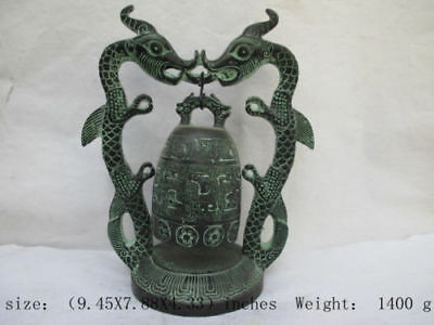 6.7 inch / The ancient Chinese folk collection of bronze dragons. The bell