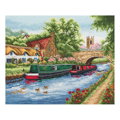 ANCHOR | Counted Cross Stitch Kit: Waterways Canal Life - Wall Hanging | PCE891