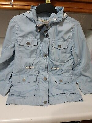 Lovely girls pale blue hooded jacket from Next age 7 years