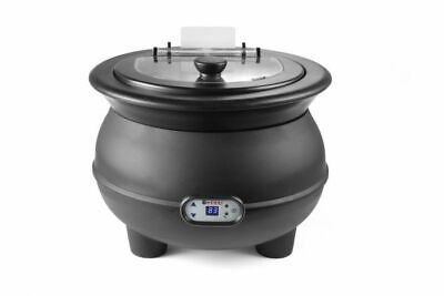 Black Soup Kettle 8 litre  Digital Display  Catering Commercial Hot Food
