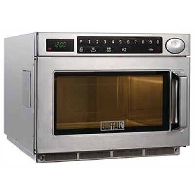 Buffalo Programmable Commercial Microwave Oven 1500W - GK641 Stainless Steel