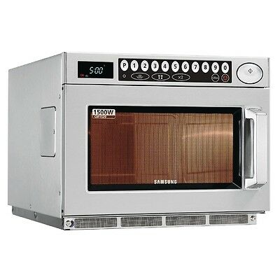 Samsung CM1529XEU 1500W Programmable Microwave Oven - DN587 Commercial Stainless