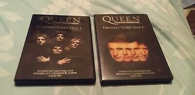 QUEEN GREATEST VIDEO HITS VOLUMES 1 & 2 ON DVD - 4 DISCS + booklets
