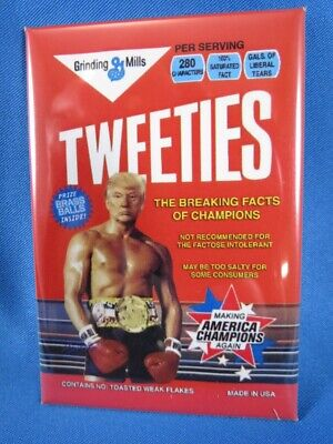 Wholesale Lot Of 10 Trump Tweeties Twitter Sticker Boxing Gloves 2020 Usa Cereal