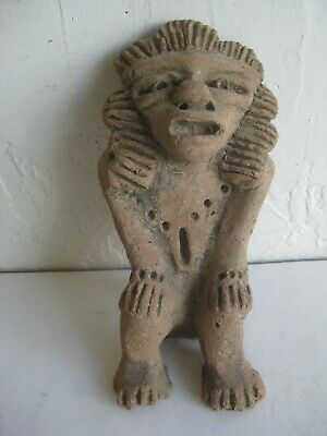 Pre-Columbian Old Mexican Pottery Aztec Statue Sculpture Unknown History Mexico