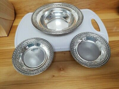 Lot of 3 Silverplate Round Bowls Vtg Reed & Barton 1201