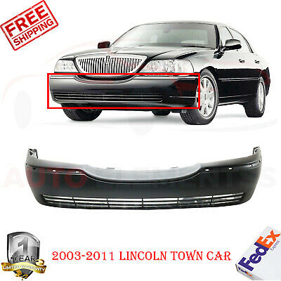 Front Bumper Cover For 2003 Lincoln Town Car w// fog lamp holes Primed