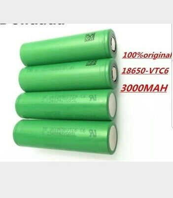 Lot de 4 accus 18650 vtc6 3000 mah 30a de decharge