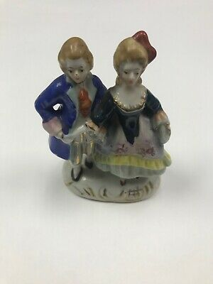 Vintage Victorian Occupied Japan Figurines Man and Woman