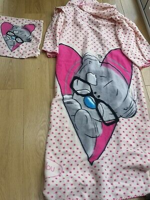 New Look Girls dressing gown Pink blanket  Years Tatty Teddy Me to You