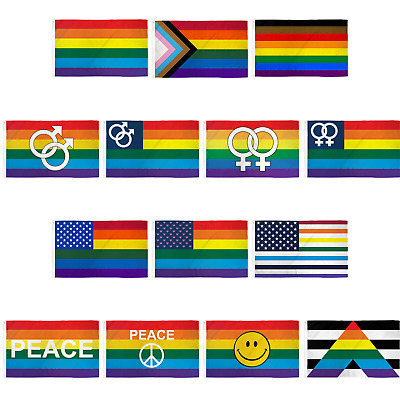 RAINBOW GENDER QUEER 3X5 FLAG #645 love gay rights marriage unity pride  new