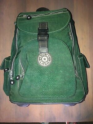 Kipling Alcatraz Wheeled Rolling Backpack Luggage Travel Green Read!!