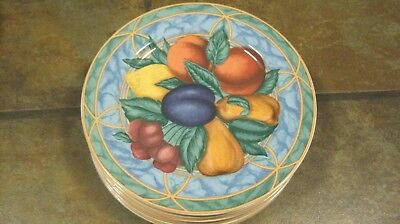 Forbidden Fruit ~ Set Of (4) Salad Plates, #9024,  From Victoria & Beale, Euc