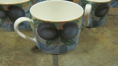 Forbidden Fruit ~ Lot Of (7) Flat Cups, #9024,  From Victoria & Beale, Euc