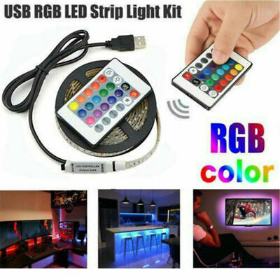 USB Powered RGB LED Strip Light Backlight for LCD TV PC Computer Case Monitor AK