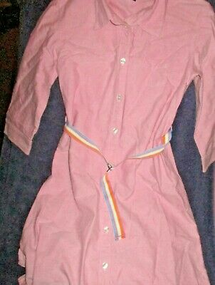 Gap Kids Girls Oxford Cloth Shirt Dress Size 12- Pink- Excellent Condition