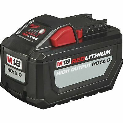Milwaukee M18 RedLithium High Output HD12.0 Battery Pack 12Ah Model# 48-11-1812