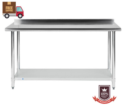 """Commercial 24"""" x 60"""" Stainless Steel Work Prep Table With BACKSPLASH Kitchen NSF"""