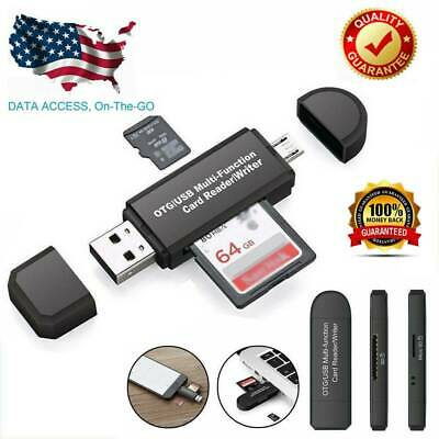 TF Micro SD Card Reader Micro USB OTG to USB 2.0 Adapter for PC Tablet Mobile OZ
