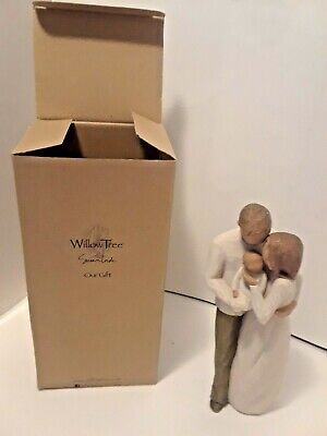 """Willow Tree """"Our Gift"""" Mom, Dad & Baby Figurine 2006 Susan Lordi Demdaco"""