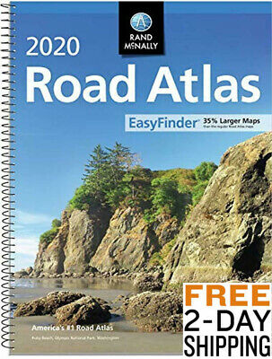 Rand Mcnally USA Road Atlas updated 2020 edition BEST Large Scale Travel Maps