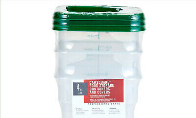 2 & 4 Qt. Clear Square Polycarbonate Food Storage Containers with Lids Combo Set