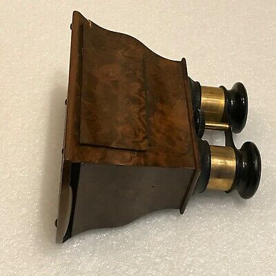Victorian stereoscopic walnut veneered viewer