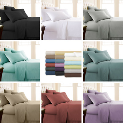 Single/KS/Double/Queen/King 4 Piece Bed Sheet Set, Flat, Fitted, Pillowcases New