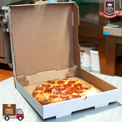 """(50-Pack) 12"""" x 12"""" x 1 3/4"""" White Corrugated Plain Pizza / Bakery Box Packaging"""