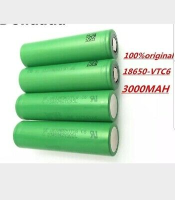 Lot de 2 accus 18650 vtc6 3000 mah 30a de decharge