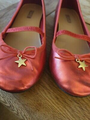 Next girls red ballerina party shoes UK size 2