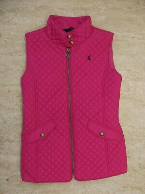Joules Girls Pink Quilted Gilet Age 11-12