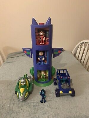 Pj Masks 3 Transforming Tower Complete With Figures & Vehicles.