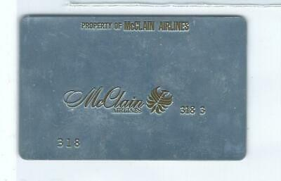 Airline Ticket Validation Plate - McClain (T473)