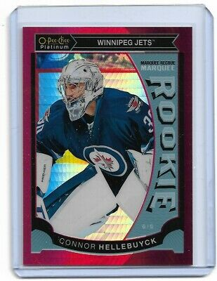 2015-16 O-Pee-Chee Platinum Marquee Rookie Red Prism  Connor Hellebuyck 049/149