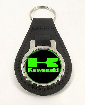 KAWASAKI  leather  keyring B STOCK