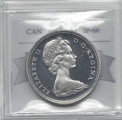 **1967**,Coin Mart Graded Canadian Silver Dollar **SP-66 UHC**