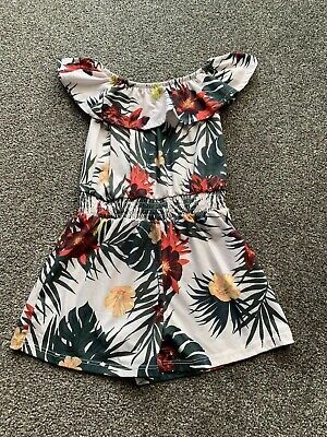 River Island Girls Tropical Playsuit  Age 5-6