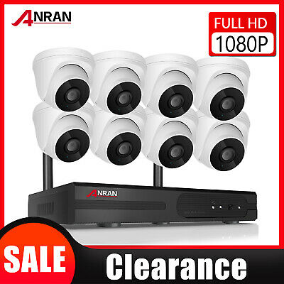 1080P Wireless Camera System Home Security WIFI Kit Audio Recording NVR 8CH CCTV