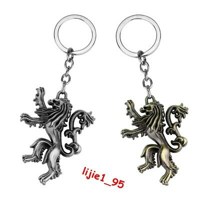 Game of Thrones House Lannister Logo Alloy Key Chains Keychain Keyfob Keyring