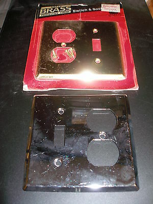 Lot of 2 Gatco Brass/Chrome Switch/Outlet Plate Covers