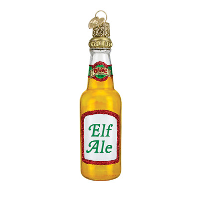 """""""Beer Bottle"""" (Elf Ale) (32175)X Old World Christmas Ornament w/Box"""