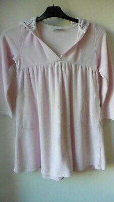 The Little White Company Pink Towel Over The Head Towelling Gown Size 7-8 Ref:6