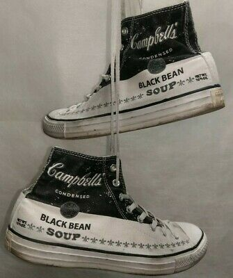 CONVERSE CHUCKS ANDY Warhol Sonderedition Campbell's Black