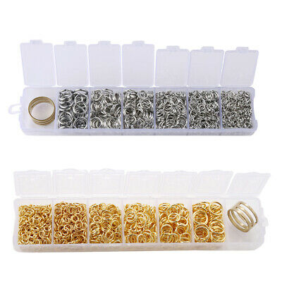 Handmade 4-10mm Mini Portable Combined Box Jump Rings DIY Jewelry Findings Kit