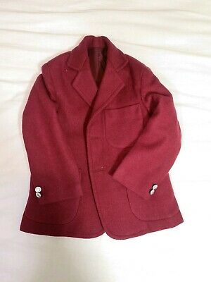 Vintage Wool Blend Red Indian School Blazer Buttons Missing Age 4