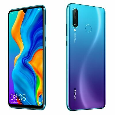 Huawei P30 Lite New 2020 Edition Peacock Blue 256GB Sim-Free Mobile Phone 6.15""