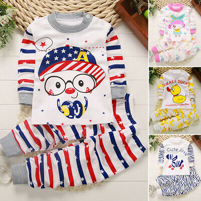 Nightwear Baby Top Pants Long Sleeve Underwear Outfits Pajamas New Lovely Home